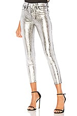 L'AGENCE Margot High Rise Skinny in Silver Foil