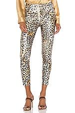 L'AGENCE Margot High Rise Skinny in Vintage White & Gold Leopard Foil