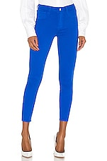 L'AGENCE Margot High Rise Skinny in Riviera Blue