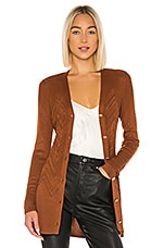 L'AGENCE Millie Cardigan in Spice