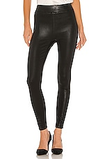 L'AGENCE Rochelle Pull On Pant in Black Coated