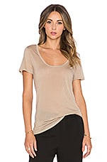 Perfect Scoop Neck Tee in Camel
