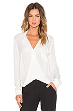 Lola Drape Front Blouse in Ivory