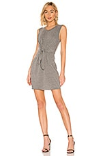 LA Made Elan Tie Front Dress in Heather Grey