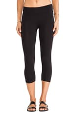 Lycra Jersey Cropped Legging in Black