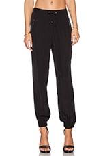 Zipper Pant in Black
