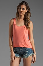 Slub Jersey Boyfriend Tank in Grapefruit