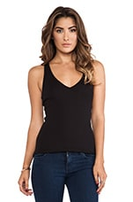 Racerback V Neck in Black