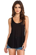 Plunge Low Tank in Black