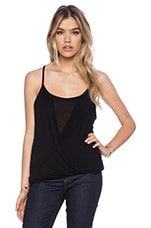 Flora Overlay Tank in Black
