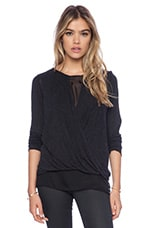 Giselle Blouse in Charcoal