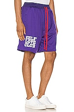 Lifted Anchors SLC Basketball Shorts in Purple