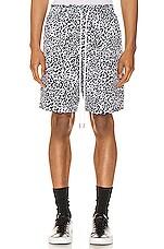Lifted Anchors Ocean Shorts Cheetah in White