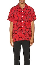 Lifted Anchors Ocean Shirt Snakeskin in Red