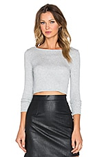 TOP CROPPED CROPPED BOATNECK LONG SLEEVE TOP