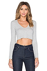 TOP CROPPED À LONGUES MANCHES
