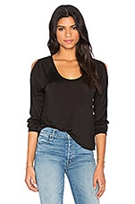 Cold Shoulder Pullover en Noir