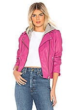 LAMARQUE Holy Leather Jacket in Shocking Pink