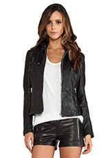 Audrey Biker Jacket in Black