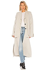 LAMARQUE Cordelia Duster Coat in Light Grey