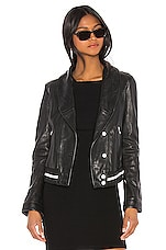 LAMARQUE Carina Leather Jacket in Black