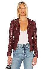LAMARQUE Chloe Leather Jacket in Rio Red