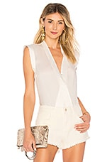 LAMARQUE Cinta Silk Bodysuit in White