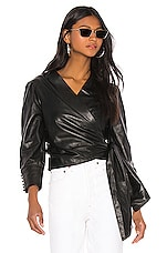 LAMARQUE Levora Leather Top in Black