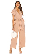 L'Academie Fia Jumpsuit in Taupe