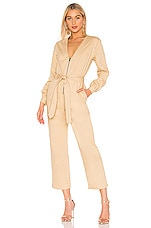 L'Academie The Mera Jumpsuit in Beige