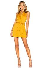 L'Academie The Gretta Dress in Mustard Yellow