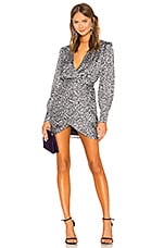 L'Academie The Joyce Mini Dress in Abstract Cheetah