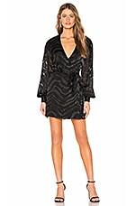 L'Academie The Alexandra Mini Dress in Black Tiger
