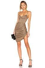 L'Academie The Olivia Mini Dress in Brown Plaid