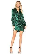 L'Academie The Terri Mini Dress in Rainforest Green