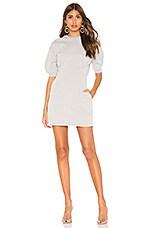 L'Academie The Laurel Mini Dress in Heather Grey
