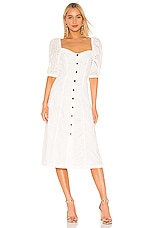 L'Academie The Yvon Midi Dress in White