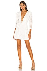 L'Academie The Lunette Mini Dress in White