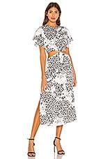 L'Academie The Mai Midi Dress in Black Leopard