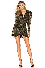 L'Academie The Giselle Mini Dress in Black & Gold
