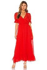 L'Academie The Alida Maxi Dress in Poppy Red