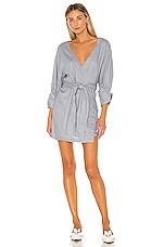 L'Academie The Noela Mini Dress in Dusty Blue