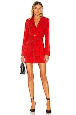 L'Academie The Patreace Mini Dress in Scarlet Red