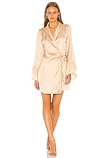L'Academie The Isabeau Mini Dress in Ivory Cream