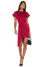L'Academie The Hilaire Mini Dress in Rumba Red