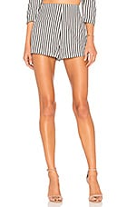 L'Academie Dre Short in Grey White Stripe