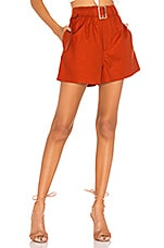 L'Academie The Beau Short in Cherry Red