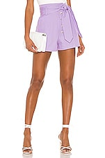 L'Academie The Marina Short in Lavender