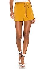 L'Academie Hyde Shorts in Mustard
