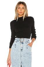 L'Academie Cerise Sweater in Black
